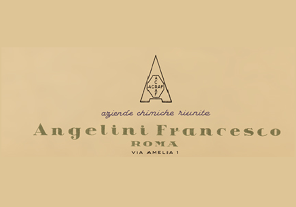 Primer logotipo de Angelini