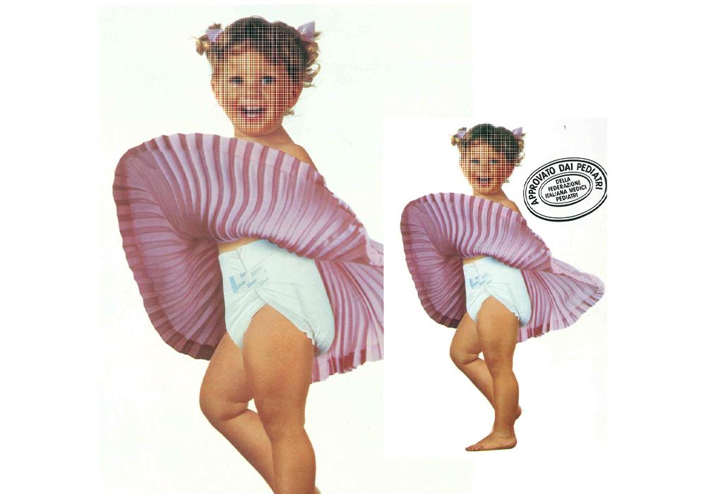 Pierwsza reklama pieluch Lines Oro